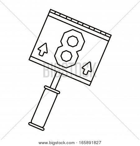 down marker american football line vector illustration eps 10