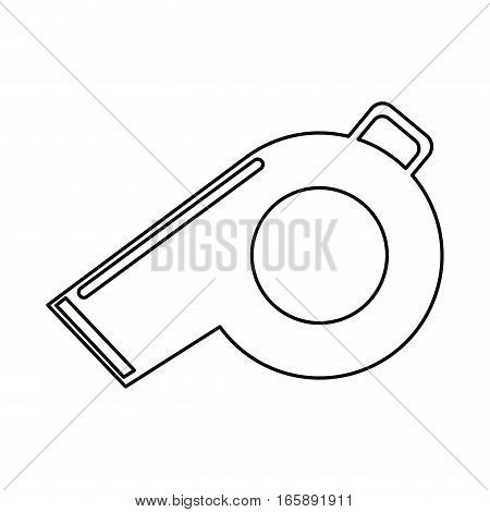 referee whistle american football icon outline vector illustration eps 10