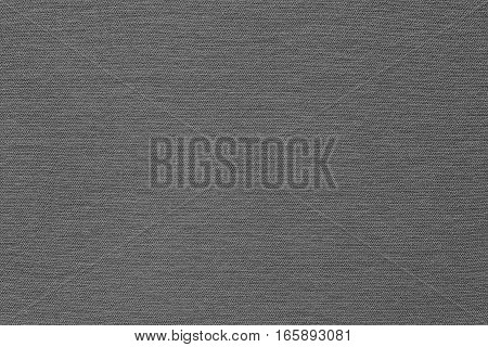 background and texture of gray color of corrugated fabric of jersey of big resolution