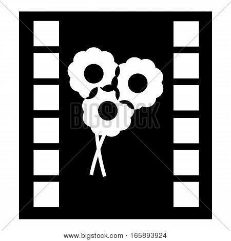 Camera film icon. Simple illustration of camera film vector icon for web
