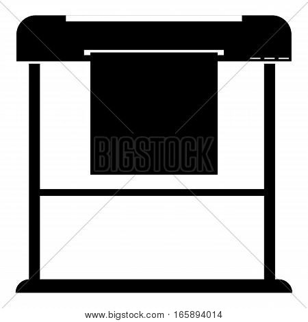 Printer icon. Simple illustration of printer vector icon for web