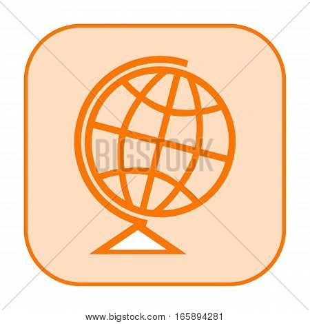 Earth globe icon isolated on white background