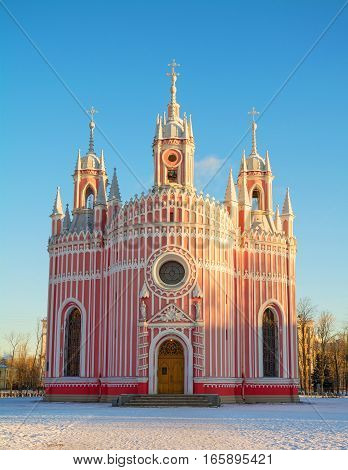 Church of St. John the Evangelist (Cesme) in the Gothic style in St. Petersburg