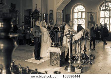 The Wedding In The Church In Kirov City