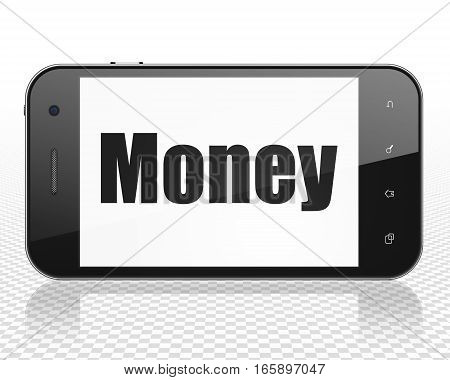 Business concept: Smartphone with black text Money on display, 3D rendering