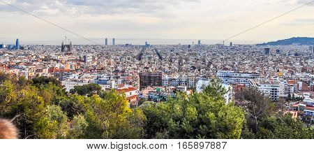 Hdr View Of Barcelona
