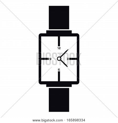 Square wristwatch icon. Simple illustration of square wristwatch vector icon for web