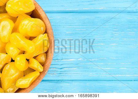 Dried Yellow Kumquat In Bowl