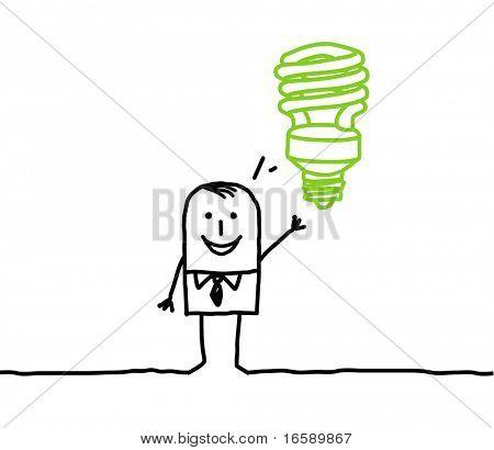 businessman & green idea