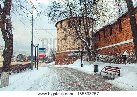 Nizhny Novgorod. View of the Nizhny Novgorod Kremlin and Powder tower