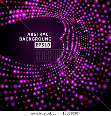 Vector Splash Of Glowing Particles. Futuristic Cyber Backdrop. Vector Illustration.