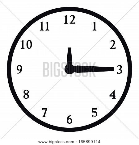 Round wall clock icon. Simple illustration of round wall clock vector icon for web