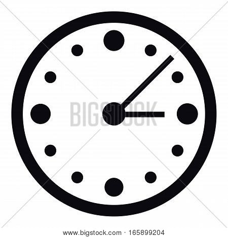 Big wall clock icon. Simple illustration of big wall clock vector icon for web