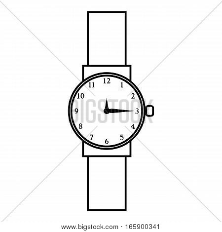 Wristwatch icon. Outline illustration of wristwatch vector icon for web