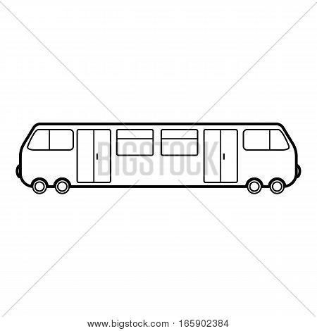 Train icon. Outline illustration of train vector icon for web