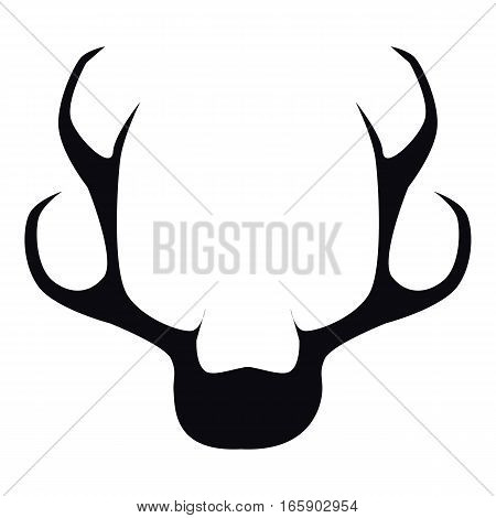 Deer horns icon. Simple illustration of deer horns vector icon for web