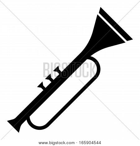 Trumpet icon. Simple illustration of trumpet vector icon for web