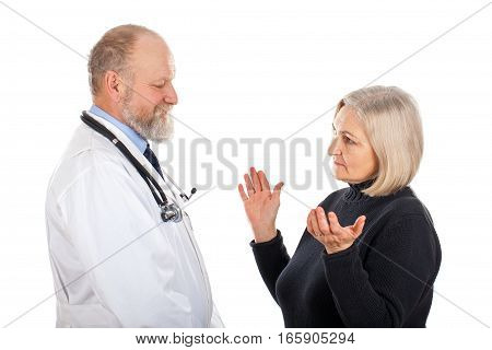 Picture of a middle-age woman at a medical check up