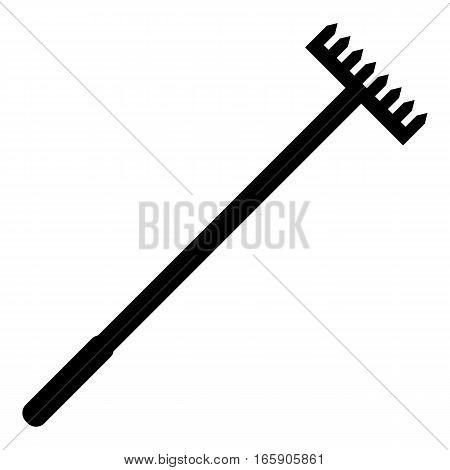 Big rake icon. Simple illustration of big rake vector icon for web