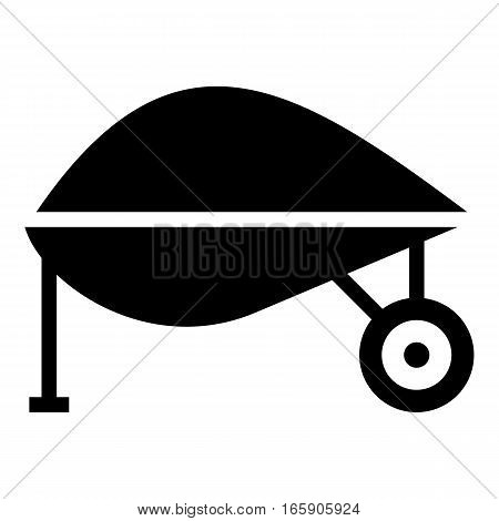 Gardening trolley icon. Simple illustration of gardening trolley vector icon for web