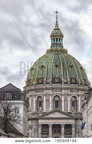Frederik's Church popularly known as The Marble Church is an Evangelical Lutheran church in Copenhagen Denmark.