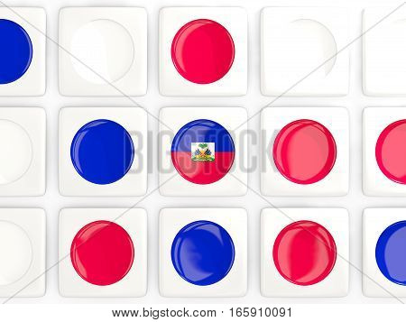 Mosaic Background With Flag Of Haiti
