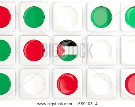 Mosaic Background With Flag Of Palestinian Territory