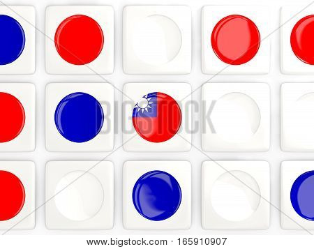 Mosaic Background With Flag Of Republic Of China