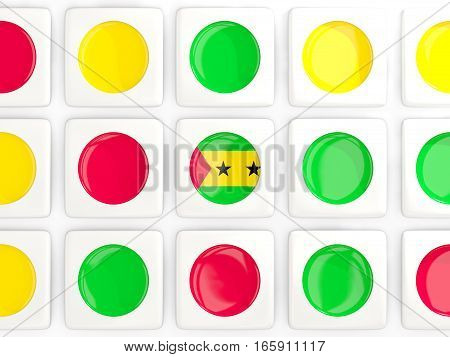 Mosaic Background With Flag Of Sao Tome And Principe