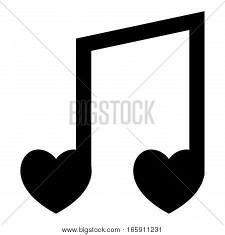 Love song icon. Simple illustration of love song vector icon for web