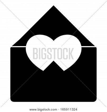 Love letter icon. Simple illustration of love letter vector icon for web