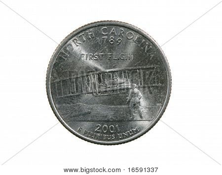 Isolated North Carolina Quarter
