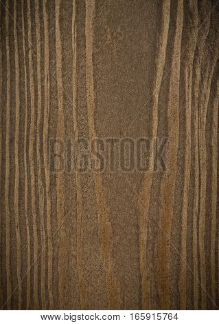 Brown stained planks of wooden wall texture background