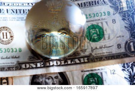 Usd Dollar Bill Eye