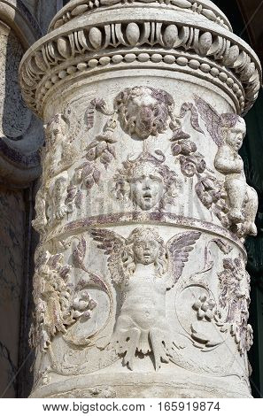 A Basrelief On The Column In Venice