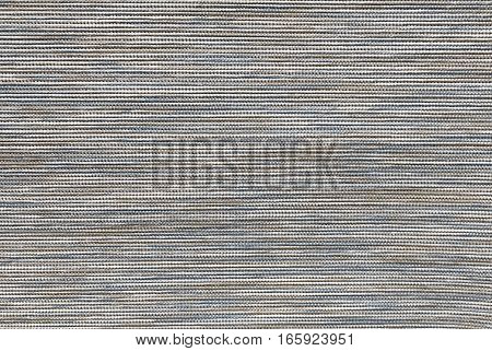 Textile Texture Close Up of Blue and Brown Fabric Pattern Background with Copy Space for Text Decorated.