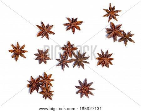 Star Anise (dried Ilicium Fruit), Top View, Paths