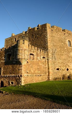An external view of the fortress of Blackness castle