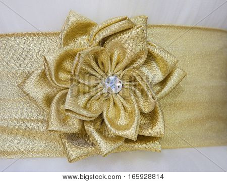 beautiful decorative flower wrought textile and crystal