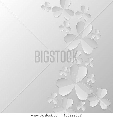 Illustration Of Clover Leaves