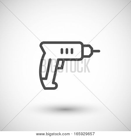 Drill line icon isolated on grey. Vector illustration