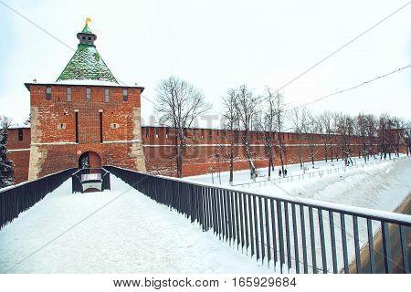 Nizhny Novgorod. View of the Nizhny Novgorod Kremlin and Nikolskaya tower