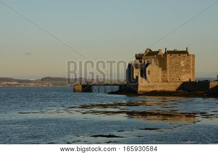 A view along the coast toward Blackness castle