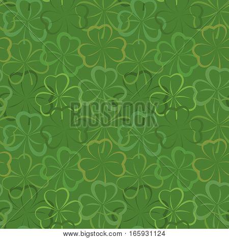 Green Background With Shamrocks