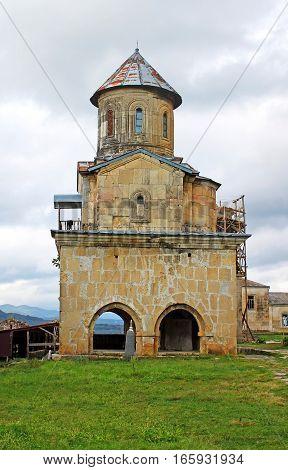 One little church of old orthodox monastery Gelati, near Kutaisi - Georgia. Unesco place