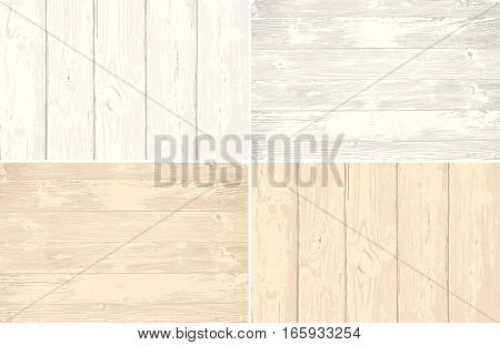 Set of wooden planks overlay texture for your design. Shabby chic background. Easy to edit vector wood texture backdrop.