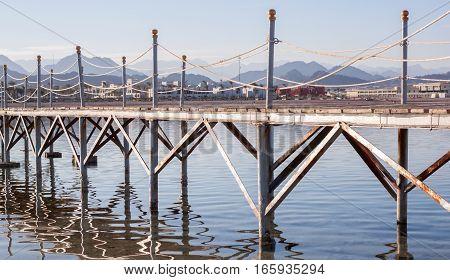 Red sea Egypt pier wooden floor beautiful view