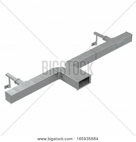 Air conditioning system on white background. 3D illustration