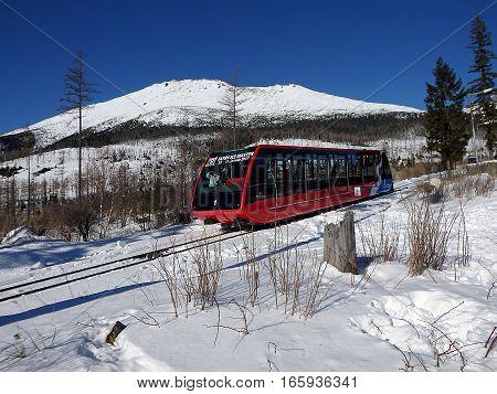 Funicular railway - High Tatras mountains - Slovakia 2017