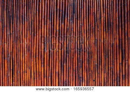 Old Bamboo Wood Vintage Background
